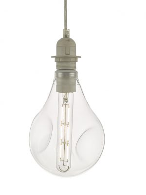 Clear Organic Glass LED Dimmable Pendant Kit