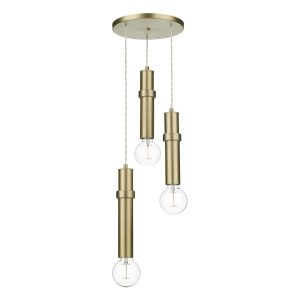 Adling 3 Light Pendant Butter Brass