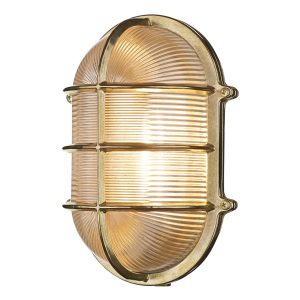 Admiral Large Oval Wall Bulkhead Brass IP64