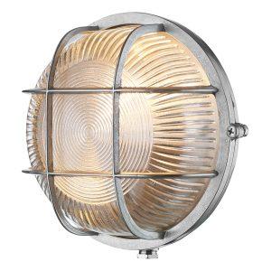 Admiral Round Wall Light Nickel IP64