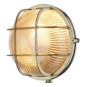 Admiral Round Wall Light Brass IP64