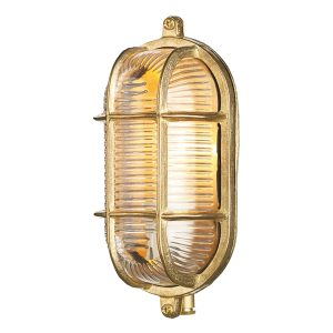 Admiral Small Oval Wall Bulkhead Brass IP64