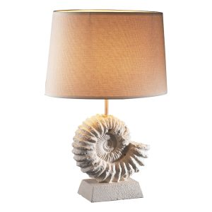 Ammonite Table Lamp complete with Shade