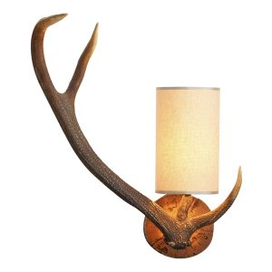 Antler Wall Light Left Hand complete with Shade