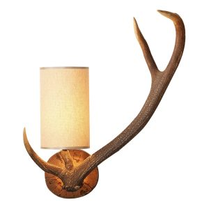 Antler Wall Light Right Hand complete with Shade