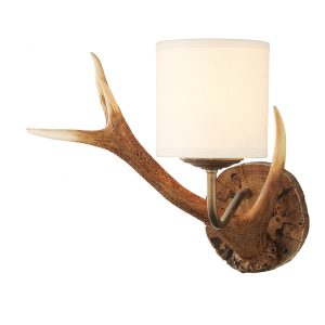 Antler Wall Light Small complete with Shade
