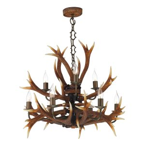Antler 9 Light Tiered Pendant
