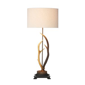 Antler Table Lamp complete with Shade