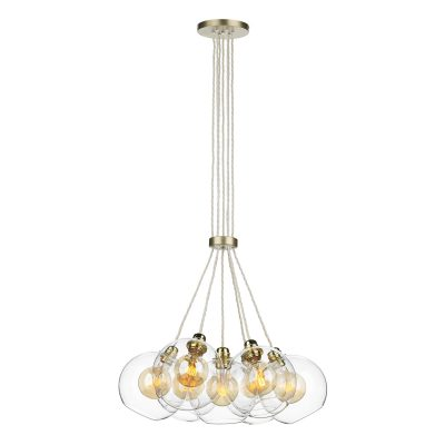 Apollo 7 Light Pendant Butter Brass complete with Glass