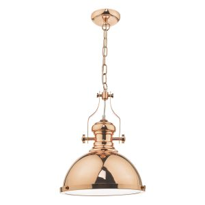 Arona 1lt Pendant Copper & Glass
