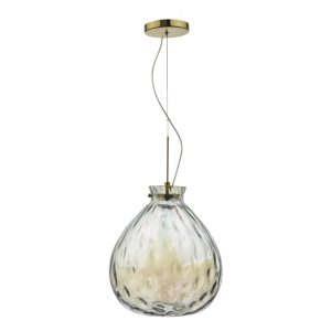 Azia Pendant French Gold & Glass LED