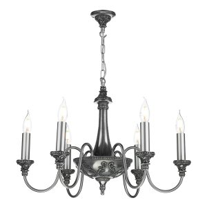 Bailey 6 Light Pendant Pewter