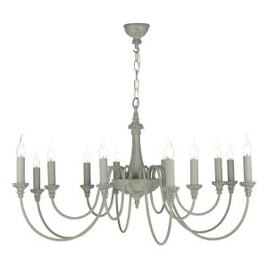 Bailey 12 Light Chandelier Ash Grey