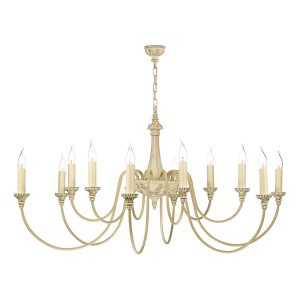 Bailey 12 Light Chandelier Antique Cream