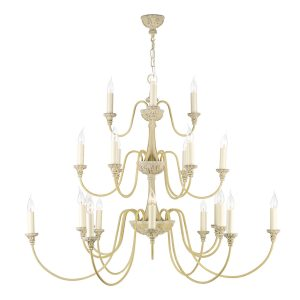 Bailey 21 Light Chandelier Antique Cream