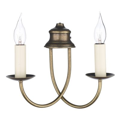 Bermuda Double Wall Bracket Aged Brass (Shades Sold Separately)