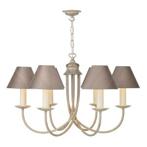 Bermuda 6 Light Pendant Cream Gold (Shades Sold Separately)