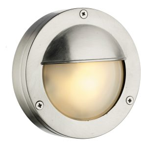 Bembridge Round Wall Light Nickel IP44