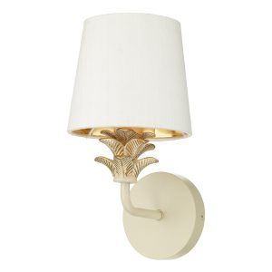 Cabana Single Wall Bracket Cream/ Gold