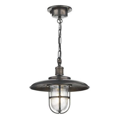 Captain Pendant Oxidised Porch Light IP43