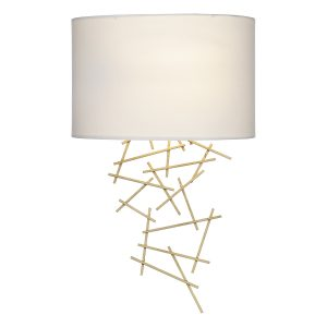 Cevero Wall Light Gold C/W Shade