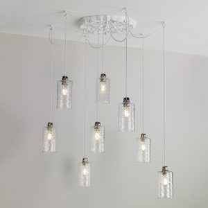 Chatsworth 8 Light Cluster pendant White