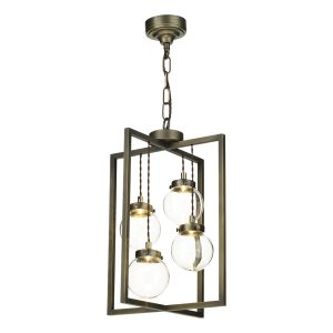 Chiswick 4 Light Lantern Antique Brass complete with Glass