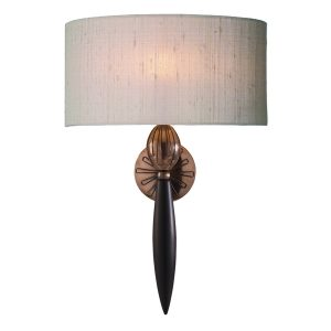 Contour Wall Light Black Bronze complete with Silk Shade (Specify Colour)