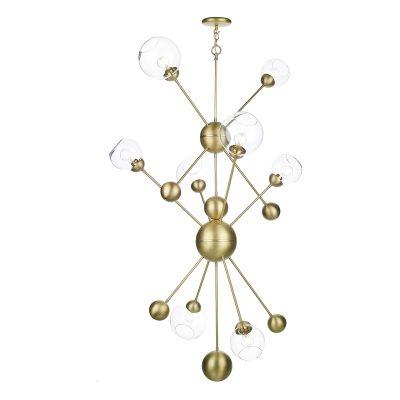 Cosmos 8 Light Pendant Butter Brass