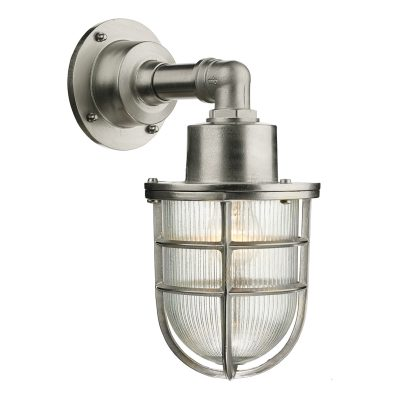 Crewe 1Lt Down Wall Light Nickel IP44