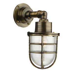 Crewe 1Lt Down Wall Light Antique Brass IP44
