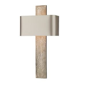 Croc Wall Light Bronze complete with Silk Shade (Spec Col)
