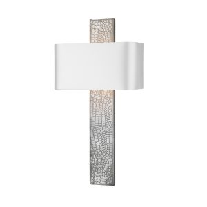 Croc Wall Light Pewter complete with Silk Shade (Spec Col)