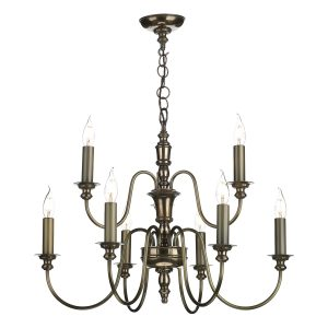 Dickens 9 Light Pendant Bronze