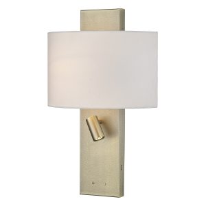 Dijon Wall Light Aged Brass Cw Shade