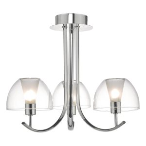 Duana 3lt Semi Flush Polished Chrome & Glass