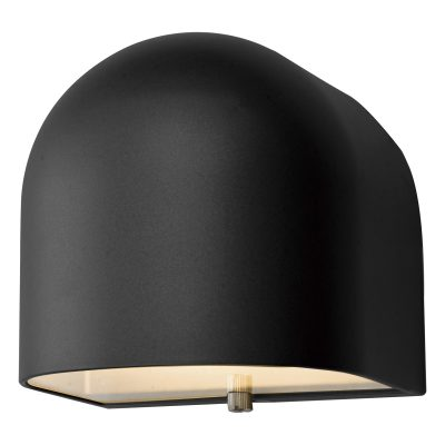 Egham Wall Light Matt Black LED IP44