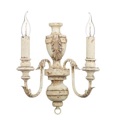 Emile 2 Light Wall Bracket Rustic French