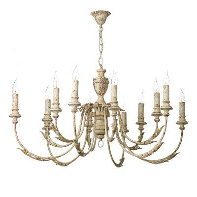 Emile 12 Light Pendant Rustic French