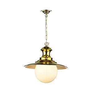 Station Lamp Large Pendant Brass