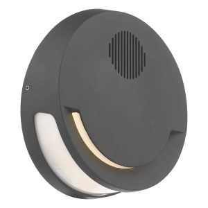 Euba Outdoor Wall Light Grey C/W Speaker LED IP44