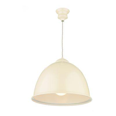 Euston 1 Light Gloss Cream Pendant