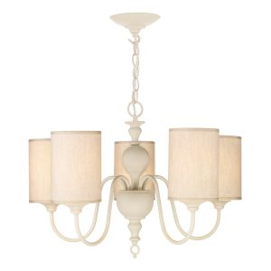 Flemish 5 Light Pendant Cream complete with Shades
