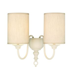 Flemish Double Wall Bracket Cream complete with Shades