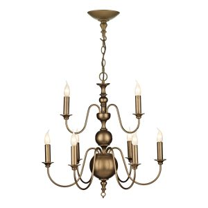 Flemish 9 Light Matt Bronze Pendant