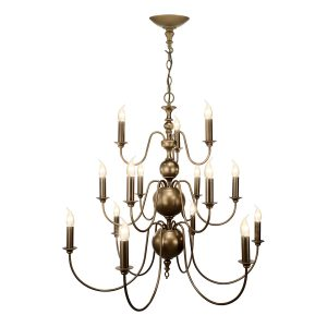 Flemish 15 Light Pendant Matt Bronze