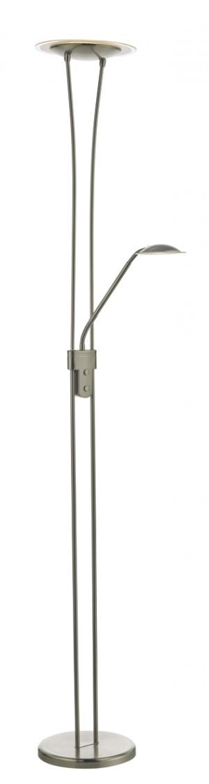Hahn Floor Lamp Satin Nickel LED