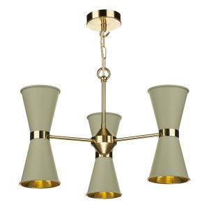 Hyde 6 Light Pendant complete with Pebble Metal Shade