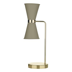 Hyde Table Lamp complete with Pebble Metal Shade