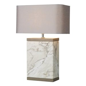 Inca Table Lamp Large Marble Base Only